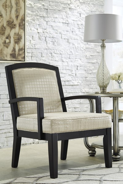 Mauricio Contemporary Pearl Wood Fabric Accent Chair 8160160