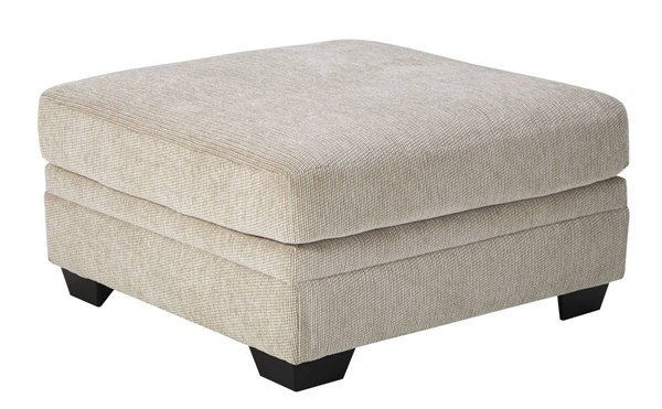 Ameer Contemporary Sand Fabric Oversized Accent Ottoman 8180608