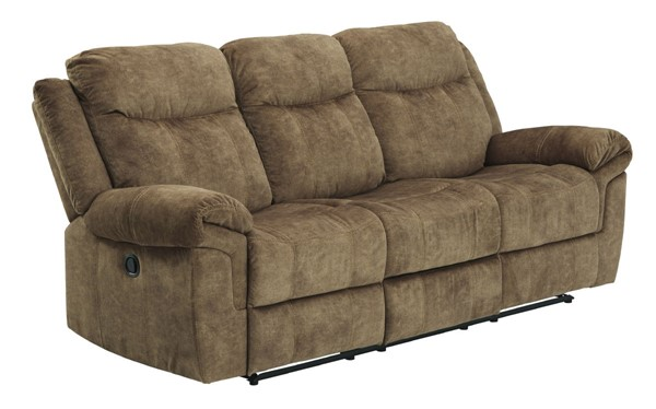 Ashley Furniture Huddle Up Nutmeg Recliner Sofa With Drop Down Table 8230489