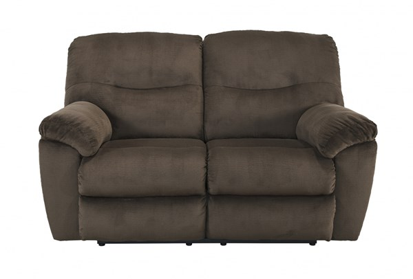 Slidell Contemporary Chocolate Fabric Reclining Loveseat 8270286