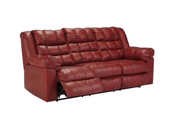 Brolayne DuraBlend Contemporary Garnet Reclining Sofa 8320388