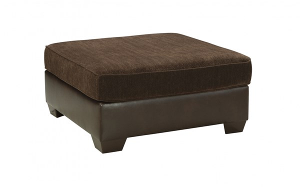 Arlette Traditional Classics PVC Fabric Oversized Accent Ottoman 8350008