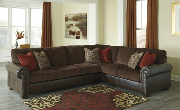 Arlette Traditional Classics PVC Fabric Sectional w/LAF Sofa 8350049-SEC