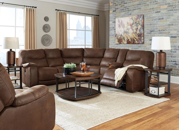 Longview Contemporary Brown Reclining Sectionals 8360-LR-S