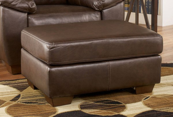 San Lucas Contemporary Harness Faux Leather Ottoman 8370214