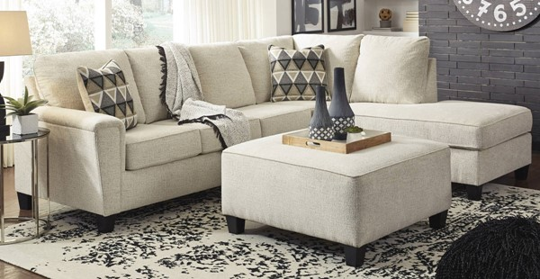 Ashley Furniture Abinger Natural RAF Sectionals With Ottoman 83904-SEC-VAR4