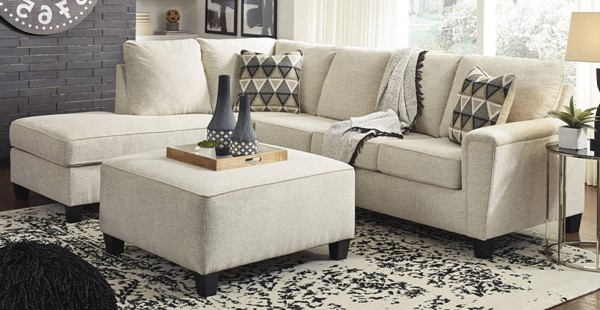 Ashley Furniture Abinger Natural LAF Sectionals With Ottoman 83904-SEC-VAR3
