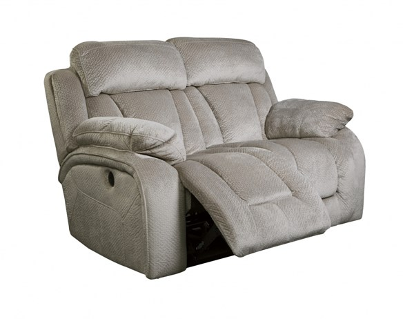 Stricklin Contemporary Pebble Fabric Reclining Power Loveseat 8650474