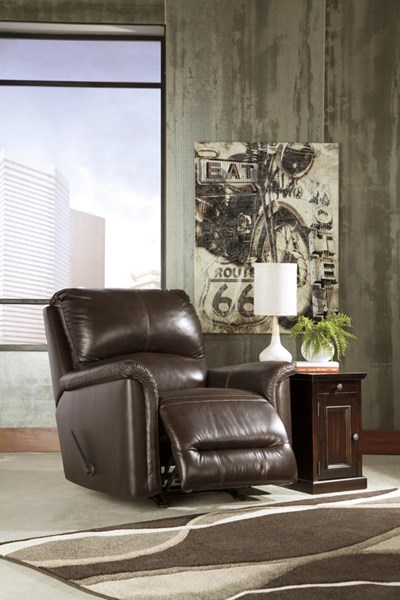 Lacotter Contemporary Chocolate Rocker Recliner 8660025