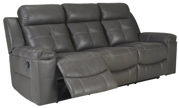 Ashley Furniture Jesolo Dark Gray Reclining Sofa 8670588