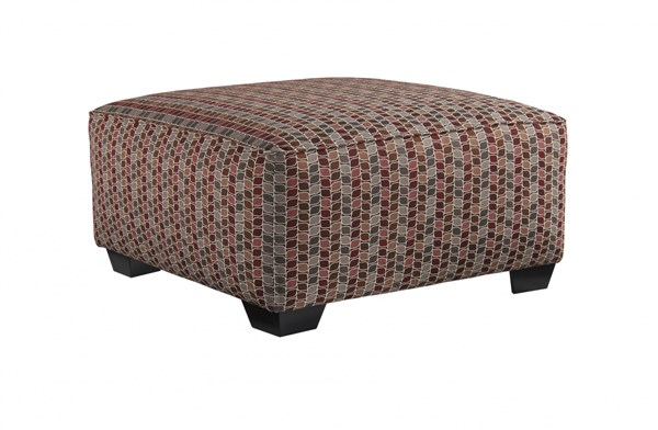 Doralin Contemporary Steel Fabric Oversized Accent Ottoman 8680008