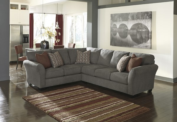 Doralin Contemporary Steel Fabric Sectional w/RAF Sofa 86800-SEC1