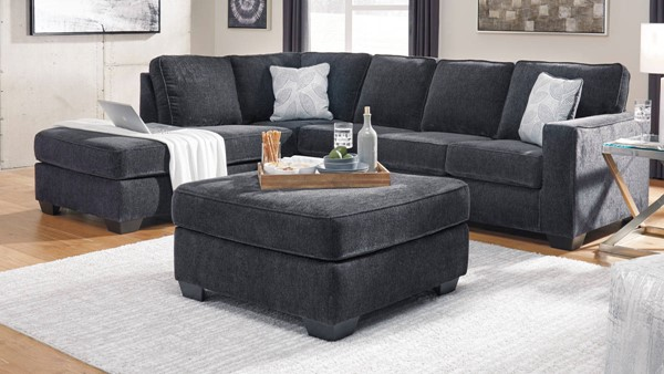 Ashley Furniture Altari Slate RAF Sectionals With Oversized Accent Ottoman 8721-SEC-VAR5