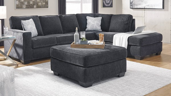 Ashley Furniture Altari Slate LAF Sectionals With Oversized Accent Ottoman 8721-SEC-VAR6