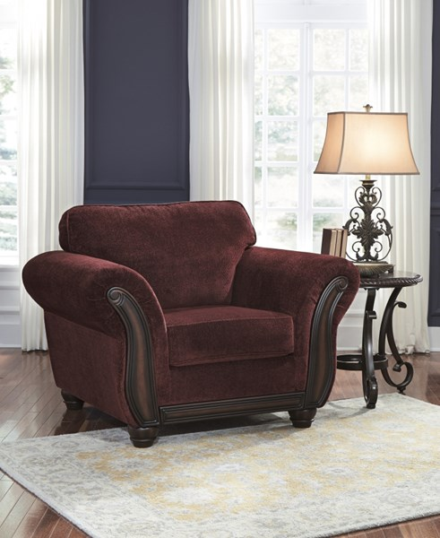 Chesterbrook Traditional Classics Burgundy Fabric Wood Chair 8810220