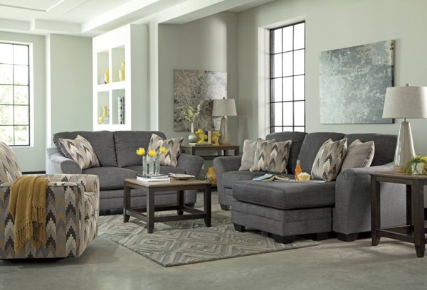 Ashley Furniture Braxlin Charcoal Living Room Set The