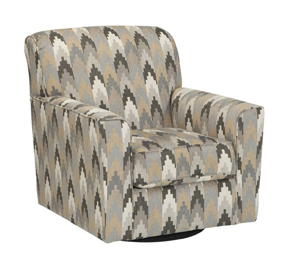 Braxlin Contemporary Charcoal Swivel Accent Chair 8850244