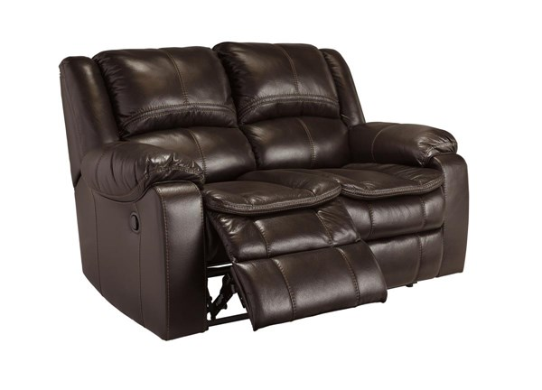 Long Knight Contemporary Brown Reclining Loveseat 8890586
