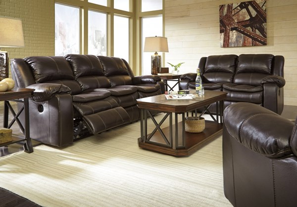 Long Knight Contemporary Brown 3pc Power Living Room Set 88905-LR-P-S1