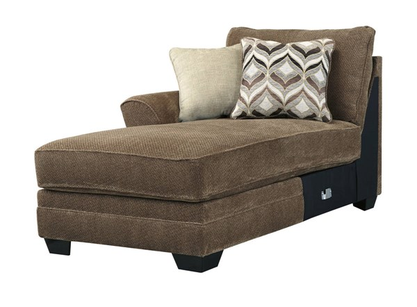 Justyna Contemporary Teak LAF Corner Chaise 8910216