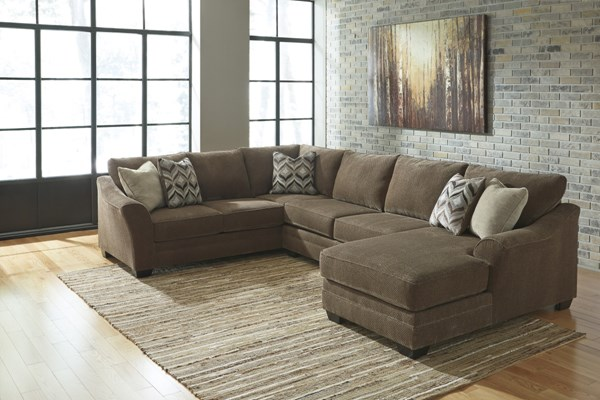 Justyna Contemporary Teak Sectional W/LAF Sofa 8910-SEC2