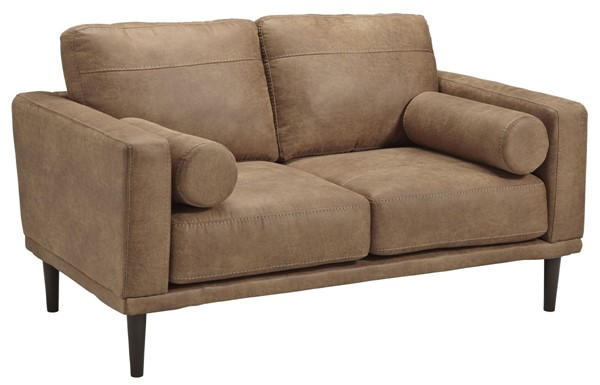 Ashley Furniture Arroyo Contemporary Caramel Loveseat 8940135