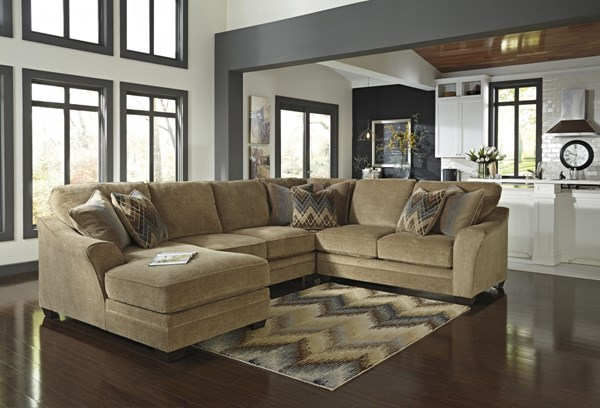 Lonsdale Barley Fabric Sectional Armless Loveseat w/LAF Corner Chaise 92111-SEC-S1