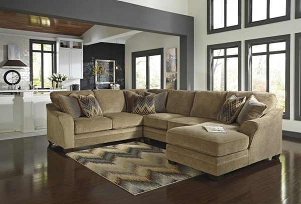 Lonsdale Barley Fabric Sectional Armless Loveseat w/RAF Corner Chaise 92111-SEC-S2