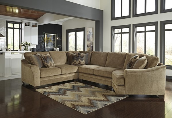 Lonsdale Contemporary Barley Fabric Sectional Armless Loveseats 92111-SEC-VAR2