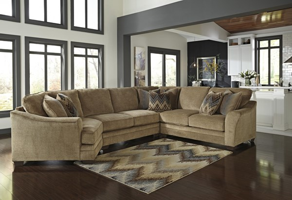 Lonsdale Barley Fabric Sectional Armless Loveseat w/LAF Cuddler 92111-SEC-S4