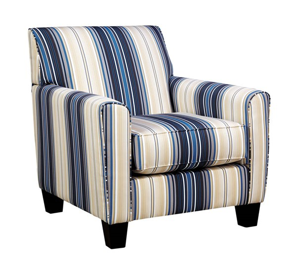 Ashley Furniture Manufacturers: Ashley Furniture Ayanna Nuvella Blue Accent Chair