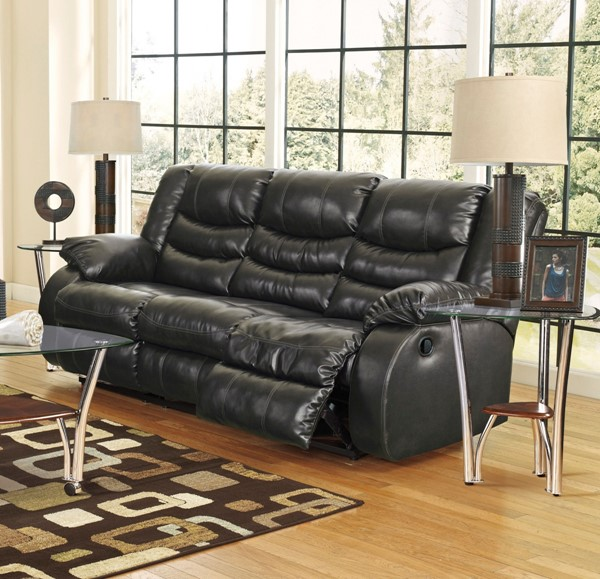 Ashley Furniture Linebacker Durablend Black Reclining Sofa 9520288