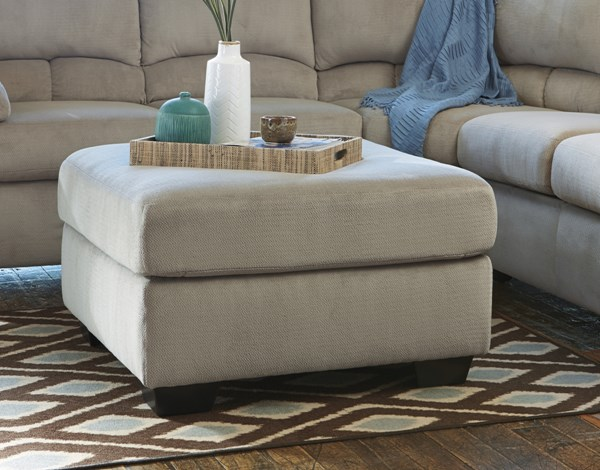 Dailey Contemporary Alloy Fabric Oversized Accent Ottoman 9540108