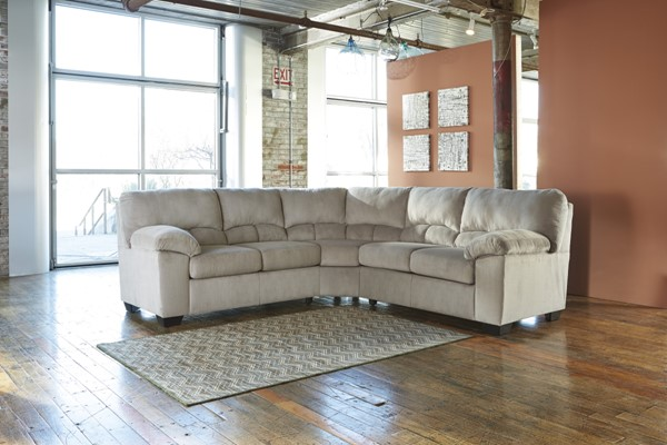 Dailey Contemporary Alloy Fabric LAF Loveseat W/Half Wedge 9540155