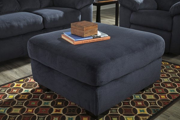 Dailey Contemporary Midnight Chocolate Oversized Accent Ottomans DAILEY-VAR1