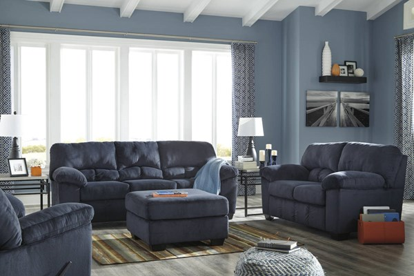 Dailey Contemporary Midnight Fabric 3pc Living Room Set 95402-LR-S1