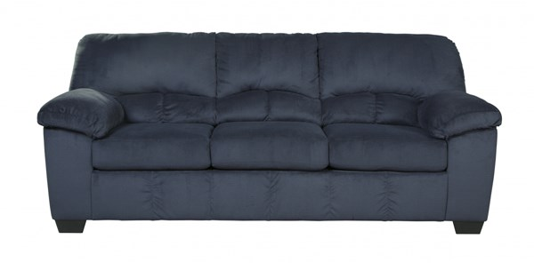 Dailey Contemporary Midnight Fabric Bustle Back Sofa 9540238
