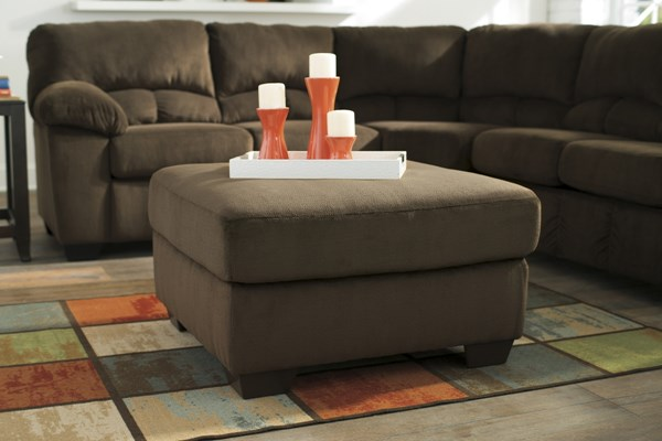 Dailey Contemporary Chocolate Fabric Oversized Accent Ottoman 9540308
