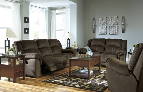 Quinnlyn Contemporary Coffee Fabric 3pc Power Living Room Set 95701-LR-P-S1