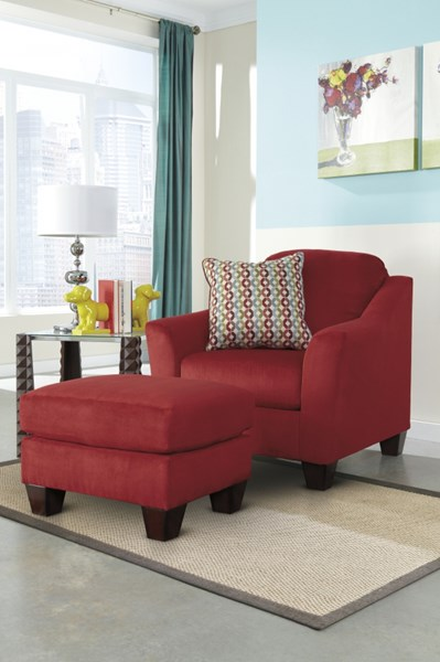 Hannin - Stone Contemporary Spice Fabric Chair And Ottoman Sets 95801-CHO-VAR