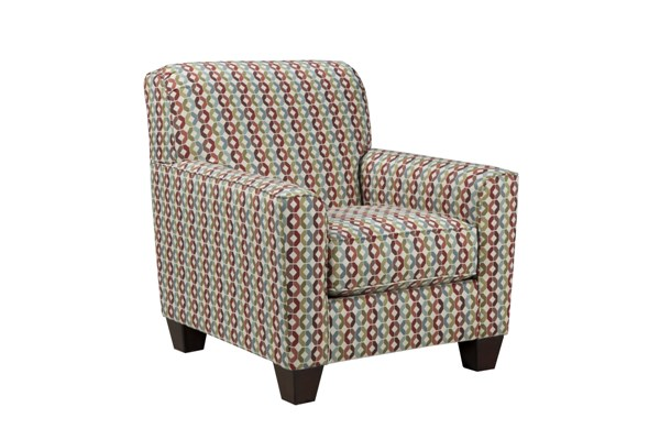 Hannin Contemporary Fabric Wood Accent Chair 958XX21