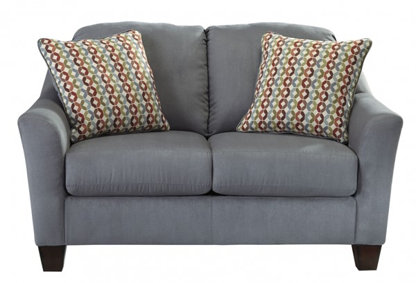 Hannin Contemporary Lagoon Fabric Loveseat 9580235