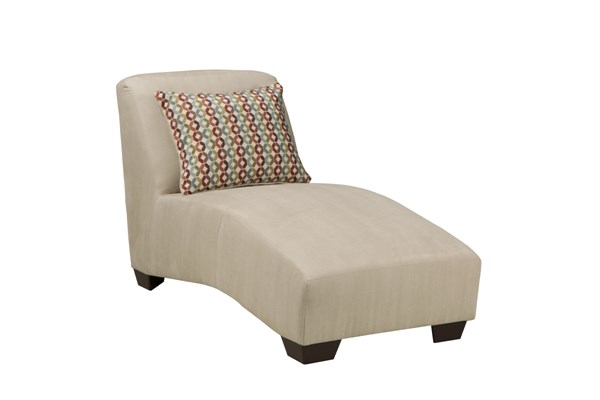 Hannin Contemporary Stone Fabric Wood Chaise 9580315