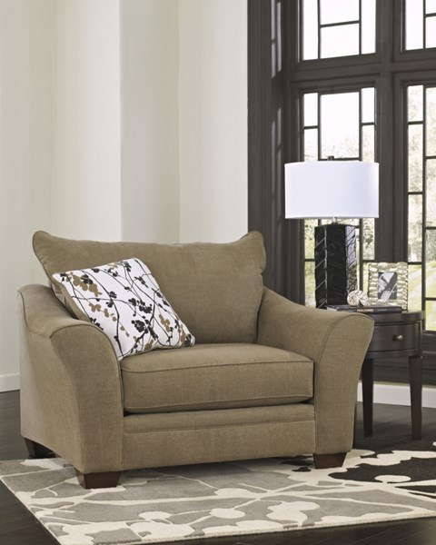 Mykla Contemporary Shitake Fabric Chair And Half 9670123