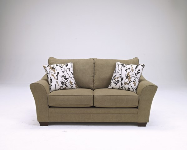 Mykla Contemporary Shitake Fabric Loveseat 9670135