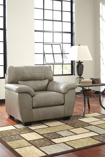 Parkstown Contemporary Pebble Wood Faux Leather Chair 9710620