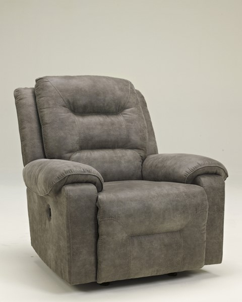 Rotation Contemporary Smoke Faux Leather Recliners 9750125-VER