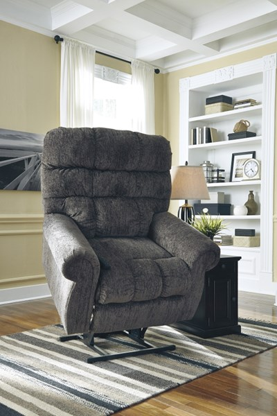 Ashley Furniture Ernestine Slate Power Lift Recliner The
