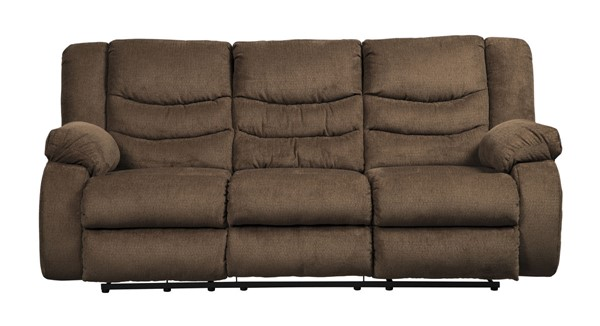 Ashley Furniture Tulen Chocolate Reclining Sofa 9860588