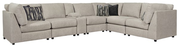 Ashley Furniture Kellway Bisque Sectional With Storage Console 98707-SEC3